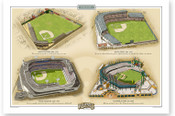 Detroit Tigers Ballparks Print