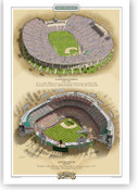 Los Angeles Dodgers Ballparks Print