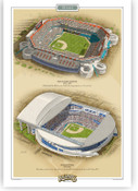 Miami Marlins Ballparks Print