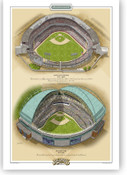 Milwaukee Brewers Ballparks Print