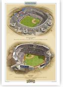 San Diego Padres Ballparks Print
