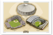 Seattle Mariners Ballparks Print