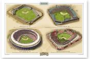 St. Louis Cardinals Ballparks Print
