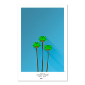 Los Angeles Dodgers - Dodger Stadium (trees) Art Poster
