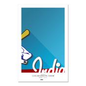 Cleveland Indians - Cleveland Municipal Stadium Art Poster