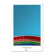 Cincinnati Reds - Riverfront Stadium Art Poster