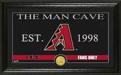 "Arizona Diamondbacks ""Man Cave"" Panoramic Bronze Coin Photo Mint"