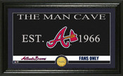 "Atlanta Braves ""Man Cave"" Panoramic Bronze Coin Photo Mint"