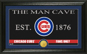"Chicago Cubs ""Man Cave"" Panoramic Bronze Coin Photo Mint"