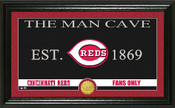 "Cincinnati Reds ""Man Cave"" Panoramic Bronze Coin Photo Mint"