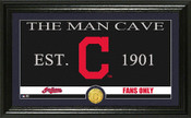 "Cleveland Indians ""Man Cave"" Panoramic Bronze Coin Photo Mint"