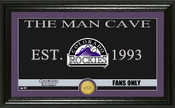 "Colorado Rockies ""Man Cave"" Panoramic Bronze Coin Photo Mint"