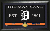 "Detroit Tigers ""Man Cave"" Panoramic Bronze Coin Photo Mint"