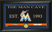 "Miami Marlins ""Man Cave"" Panoramic Bronze Coin Photo Mint"
