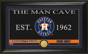 "Houston Astros ""Man Cave"" Panoramic Bronze Coin Photo Mint"