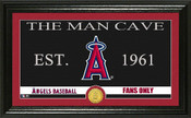 "Los Angeles Angels ""Man Cave"" Panoramic Bronze Coin Photo Mint"