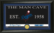 "Los Angeles Dodgers ""Man Cave"" Panoramic Bronze Coin Photo Mint"