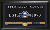 "Milwaukee Brewers ""Man Cave"" Panoramic Bronze Coin Photo Mint"