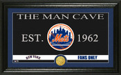 "New York Mets ""Man Cave"" Panoramic Bronze Coin Photo Mint"