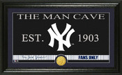 "New York Yankees ""Man Cave"" Panoramic Bronze Coin Photo Mint"