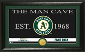 "Oakland A's ""Man Cave"" Panoramic Bronze Coin Photo Mint"