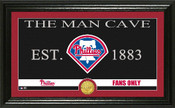 "Philadelphia Phillies ""Man Cave"" Panoramic Bronze Coin Photo Mint"