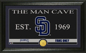 "San Diego Padres ""Man Cave"" Panoramic Bronze Coin Photo Mint"