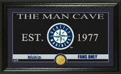 "Seattle Mariners ""Man Cave"" Panoramic Bronze Coin Photo Mint"