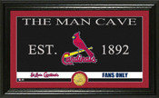 "St. Louis Cardinals ""Man Cave"" Panoramic Bronze Coin Photo Mint"