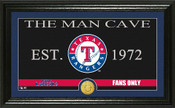 "Texas Rangers ""Man Cave"" Panoramic Bronze Coin Photo Mint"