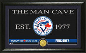 "Toronto Blue Jays ""Man Cave"" Panoramic Bronze Coin Photo Mint"