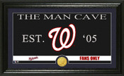"Washington Nationals ""Man Cave"" Panoramic Bronze Coin Photo Mint"
