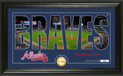 "Atlanta Braves ""Silhouette"" Panoramic Bronze Coin Photo Mint"