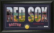 "Boston Red Sox ""Silhouette"" Panoramic Bronze Coin Photo Mint"