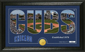 "Chicago Cubs ""Silhouette"" Panoramic Bronze Coin Photo Mint"