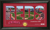 "Cincinnati Reds ""Silhouette"" Panoramic Bronze Coin Photo Mint"