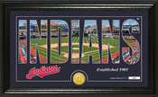 "Cleveland Indians ""Silhouette"" Panoramic Bronze Coin Photo Mint"