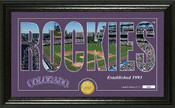 "Colorado Rockies ""Silhouette"" Panoramic Bronze Coin Photo Mint"