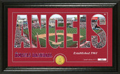 "Los Angeles Angels ""Silhouette"" Panoramic Bronze Coin Photo Mint"