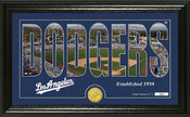 "Los Angeles Dodgers ""Silhouette"" Panoramic Bronze Coin Photo Mint"