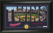 "Minnesota Twins ""Silhouette"" Panoramic Bronze Coin Photo Mint"