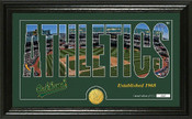 "Oakland A's ""Silhouette"" Panoramic Bronze Coin Photo Mint"