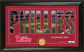 "Philadelphia Phillies ""Silhouette"" Panoramic Bronze Coin Photo Mint"