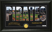 "Pittsburgh Pirates ""Silhouette"" Panoramic Bronze Coin Photo Mint"