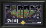 "San Diego Padres ""Silhouette"" Panoramic Bronze Coin Photo Mint"