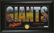 "San Francisco Giants ""Silhouette"" Panoramic Bronze Coin Photo Mint"
