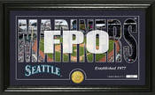 "Seattle Mariners ""Silhouette"" Panoramic Bronze Coin Photo Mint"