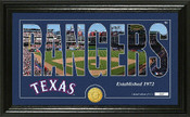 "Texas Rangers ""Silhouette"" Panoramic Bronze Coin Photo Mint"