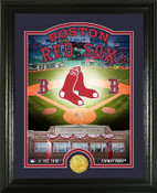 "Boston Red Sox ""Stadium"" Bronze Coin Photo Mint"