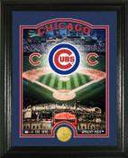 "Chicago Cubs ""Stadium"" Bronze Coin Photo Mint"